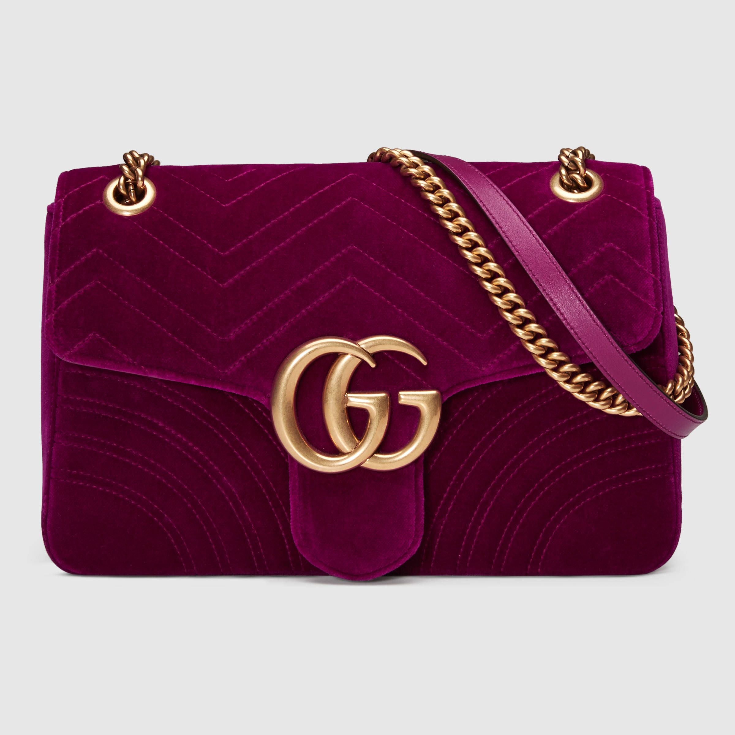 c71acf14d0f Gucci Women - GG Marmont velvet shoulder bag - 443496K4D2T5671 ...