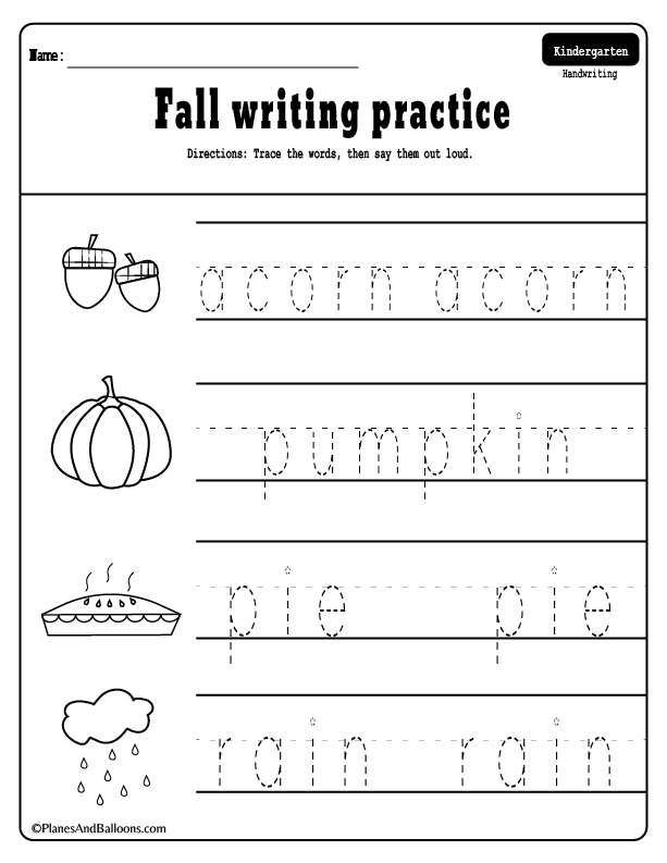10 + Fall worksheets kindergarten teachers and students absolutely ...