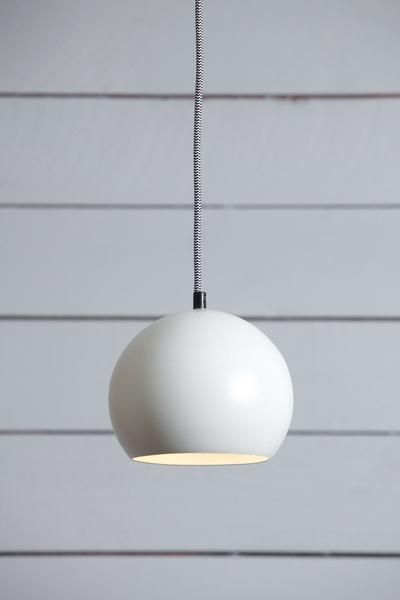 This custom made to order mid century pendant off white eye ball light comes with off white eyeball shade white or black ceiling canopy black or white