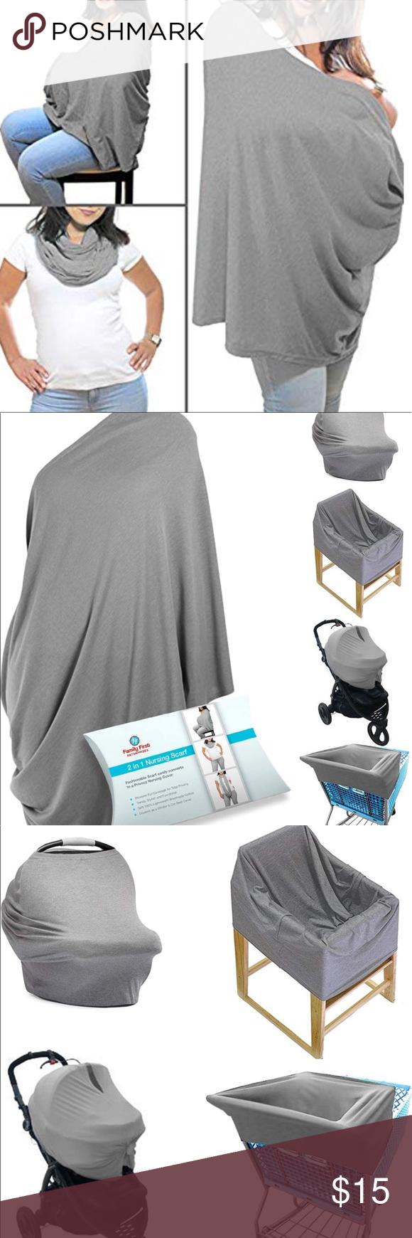 2 in 1 Nursing Scarf. Breastfeeding Cover Infinity Scarf