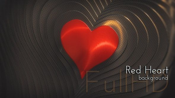 Dark Design Metal Hot Heart Motion FullHD Background,  #metalheart #darkdesign #hotheart #redheart #motiondesign