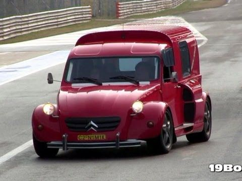 Citroën 2CV Nimik - Ferrari F355 V8 Engine w/ Capristo Exhaust REVS SOUND!!! - YouTube