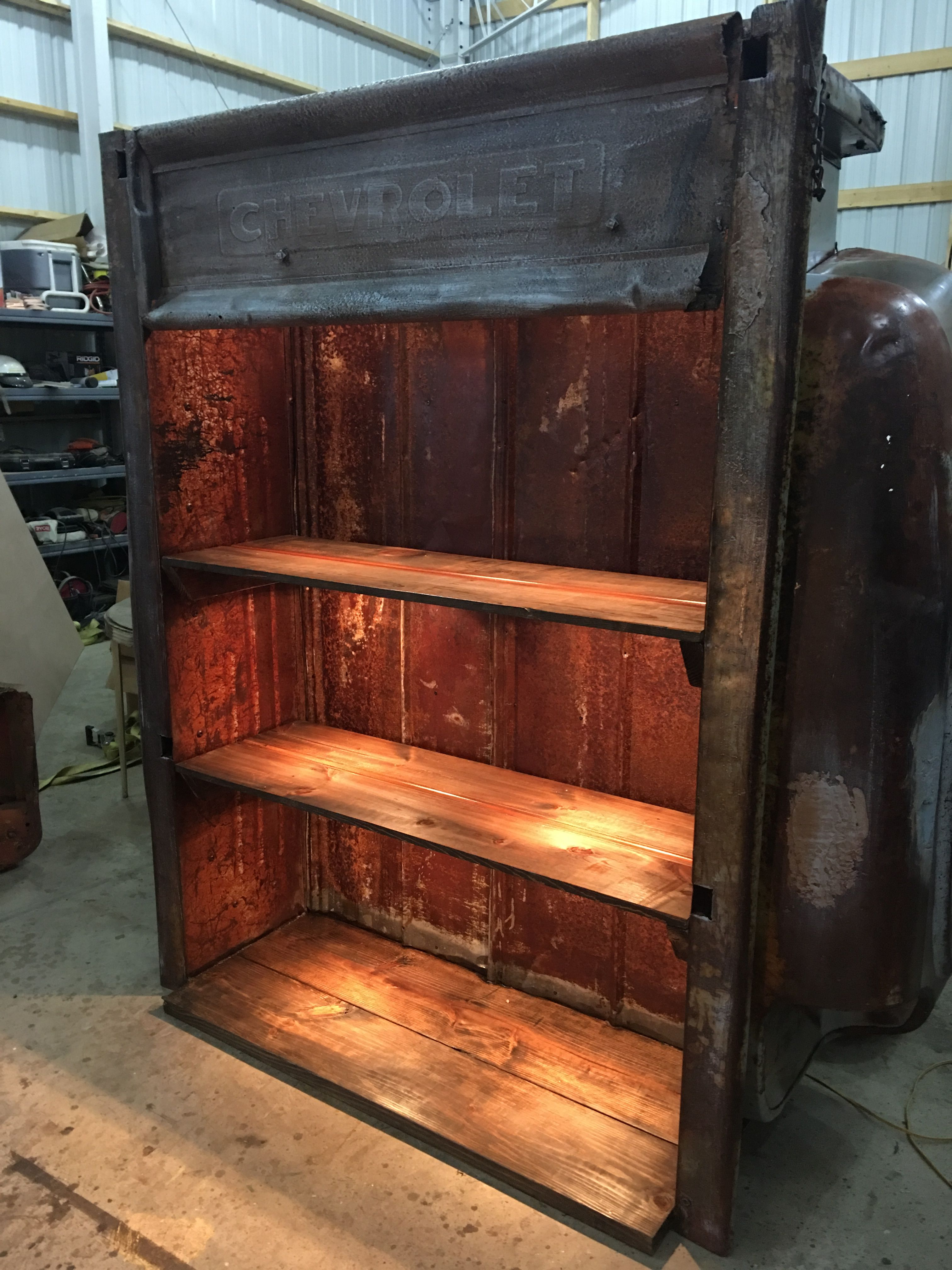 Chevy Truck Bed Repurposed Into Shelve By Southern Boy Primitives