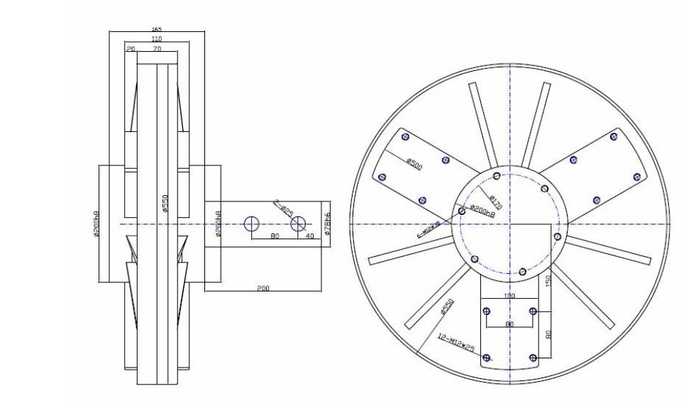 Coreless Pmg 1kw 12v 24v48v96v Vertical Axis Wind Generator 3