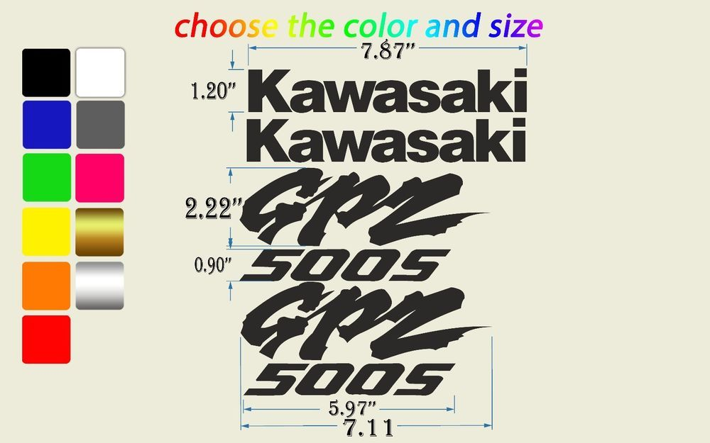 Details About Kawasaki Kanji Vinyl Sticker Decal Jdm Japan