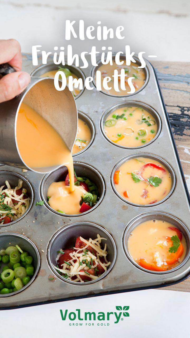 Passend zum großen Sonntagsfrühstück Wir wollen Euch heute ein leckeres und schnell zubereitetes Gericht für das ausgiebige Frühstück am Wochenende vorstellen. Die kleinen Frühstücks-Omeletts sehen aus wie herzhaft leckere Muffins und können nach Euren Wünschen gestaltet werden.  Dazu braucht Ihr: