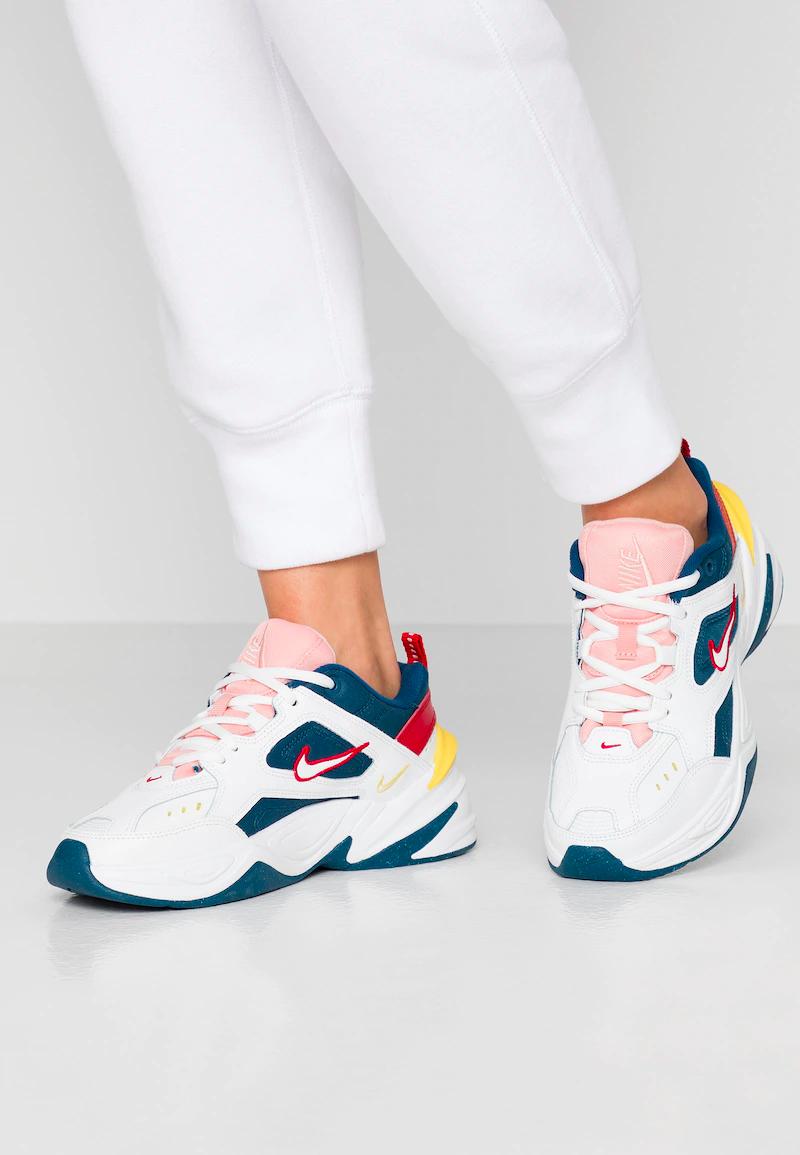 Lengua macarrónica este administración  Nike Sportswear M2K TEKNO - Baskets basses - blue force/summit white/chrome  yellow - ZALANDO.CH | Zalando