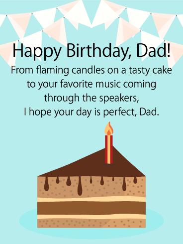 Tasty Cake Happy Birthday Dad Card Birthday Greeting Cards By Davia Happy Birthday Dad Father Birthday Quotes Happy Birthday Daddy