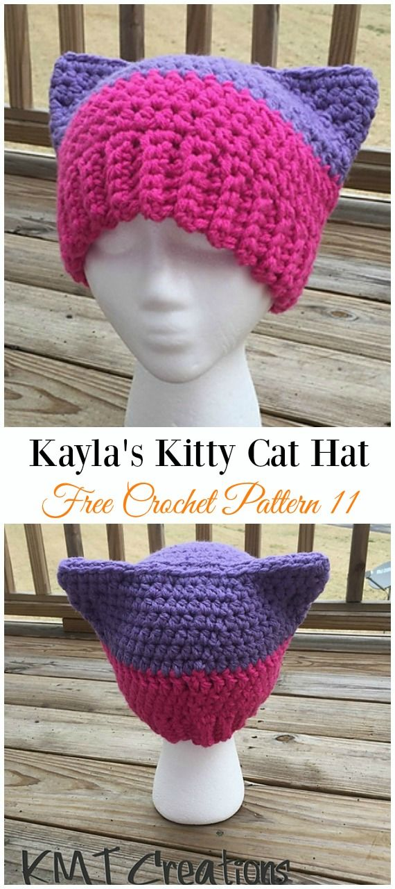 Fun Free Adult Cat Hat Crochet Patterns Crochet winter