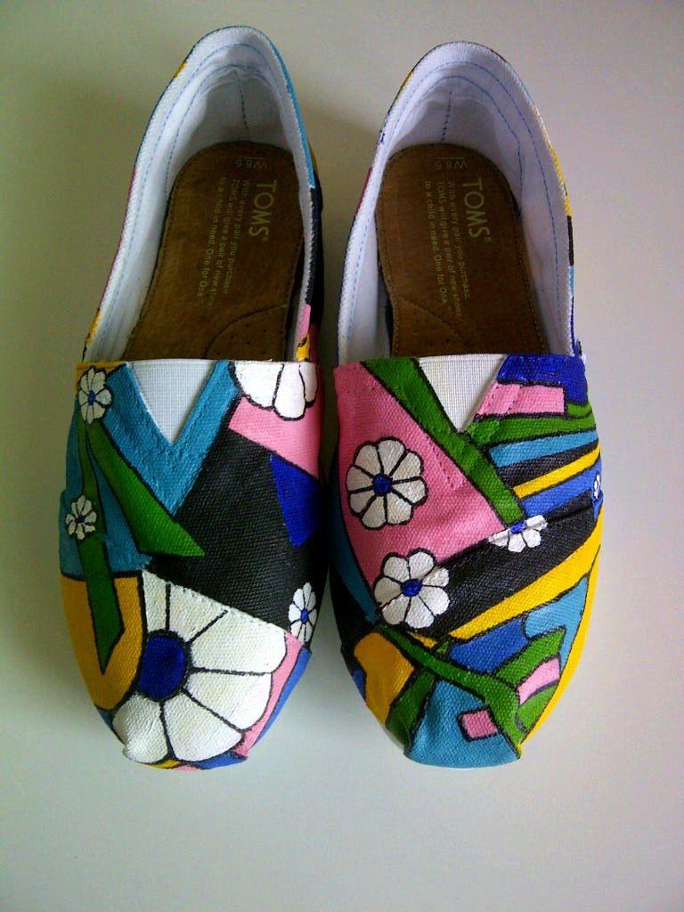 802c5998cbd4 Custom Painted Shoes by TheBrambling on Etsy