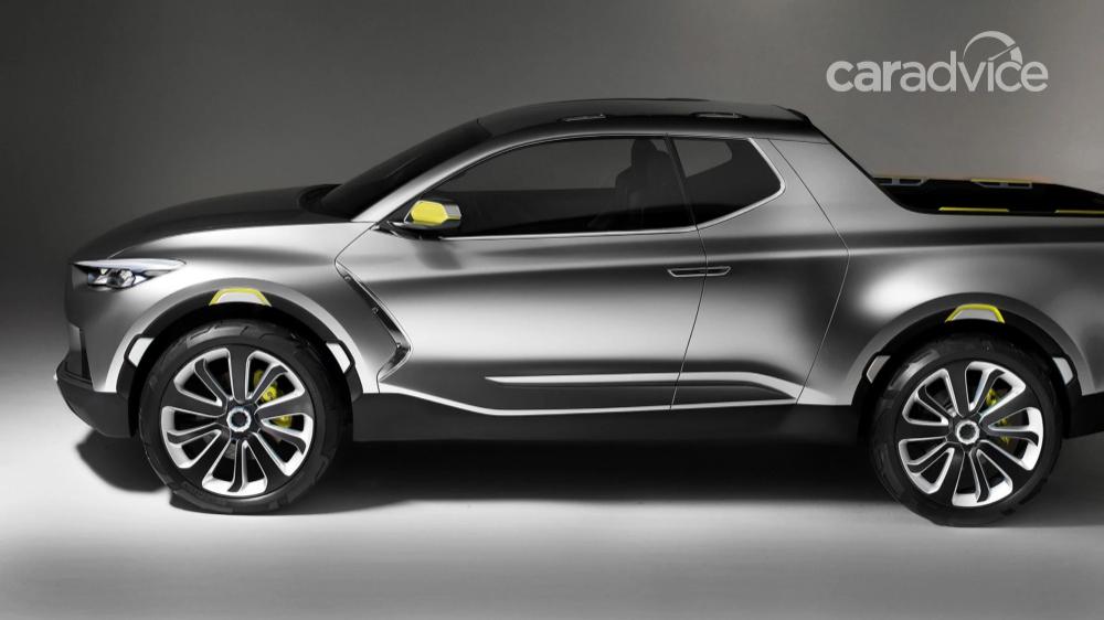 Hyundai Ute American Santa Cruz Production Starting 2021 Caradvice Pickup Trucks Hyundai Motor Concept Cars