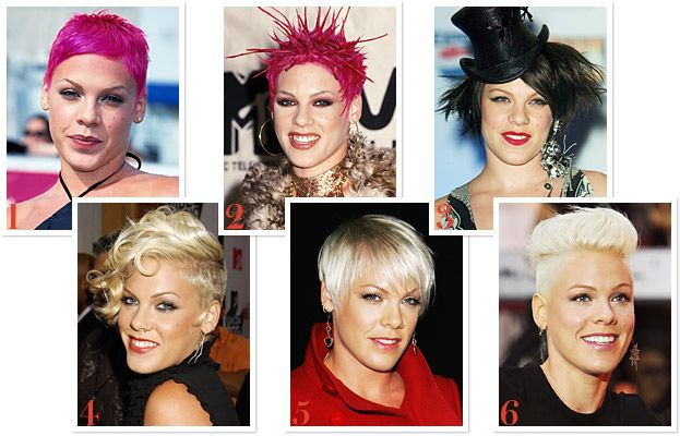The Evolution Of P Nk S Vibrant Hairstyles Over The Years Hair