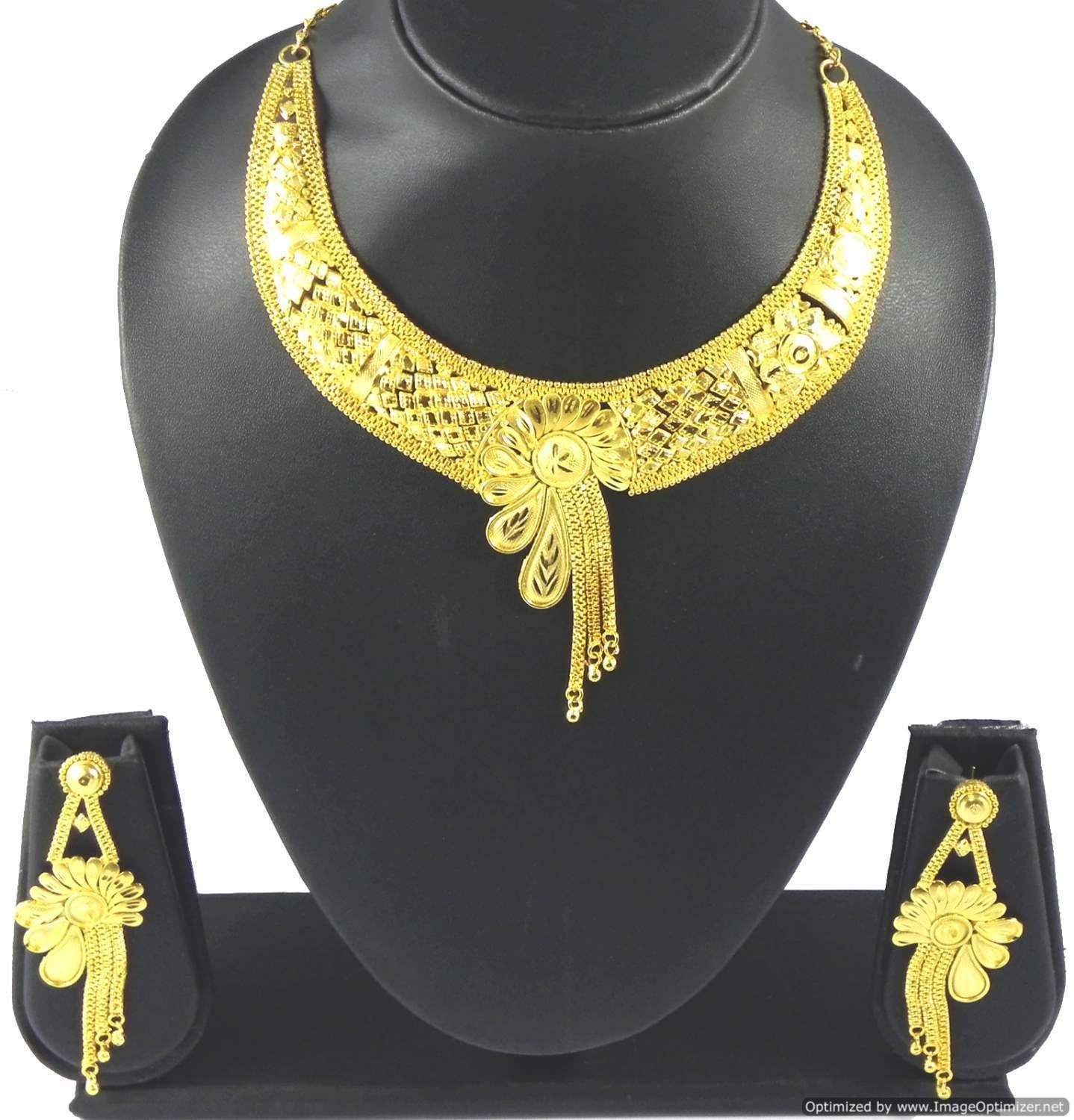 fashion pretty earrings jewelry gold jewellery plated set pin indian necklace