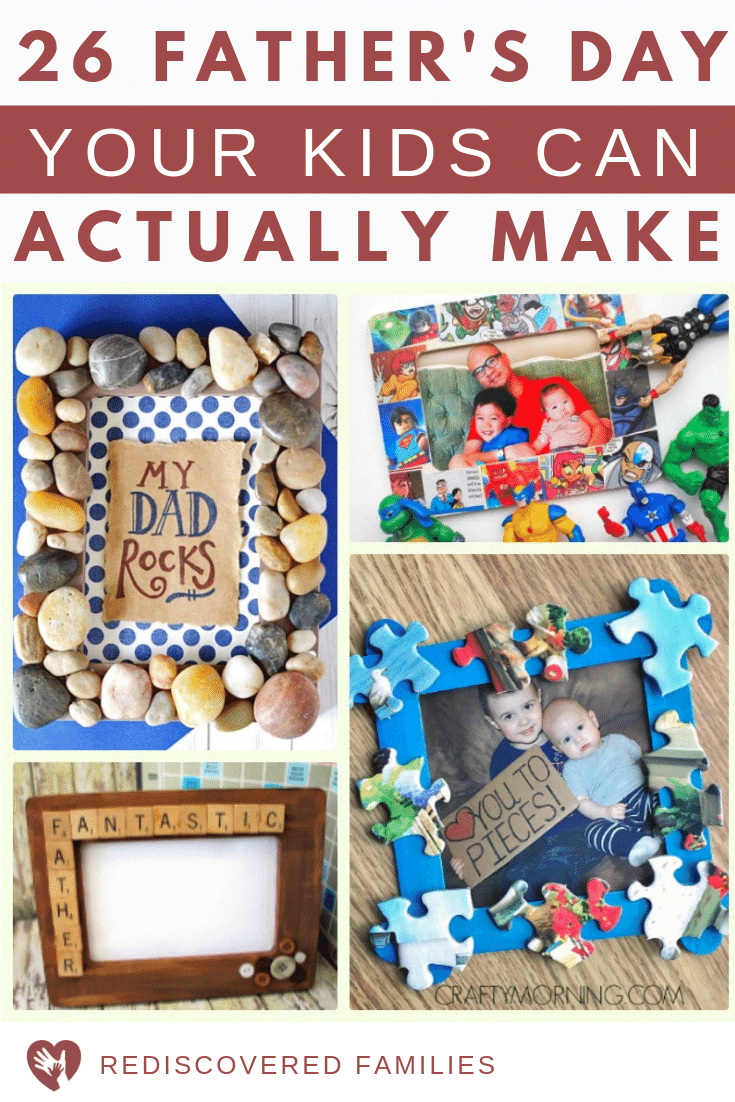 26 Surprisingly Easy Father's Day Crafts For Kids To Make