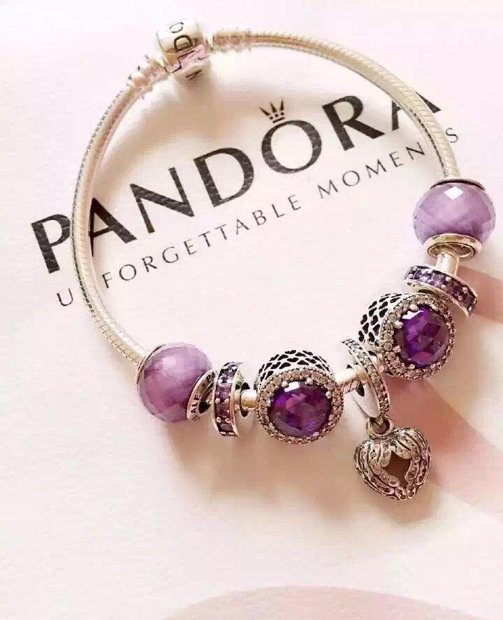 50 off 199 pandora charm bracelet purple hot sale