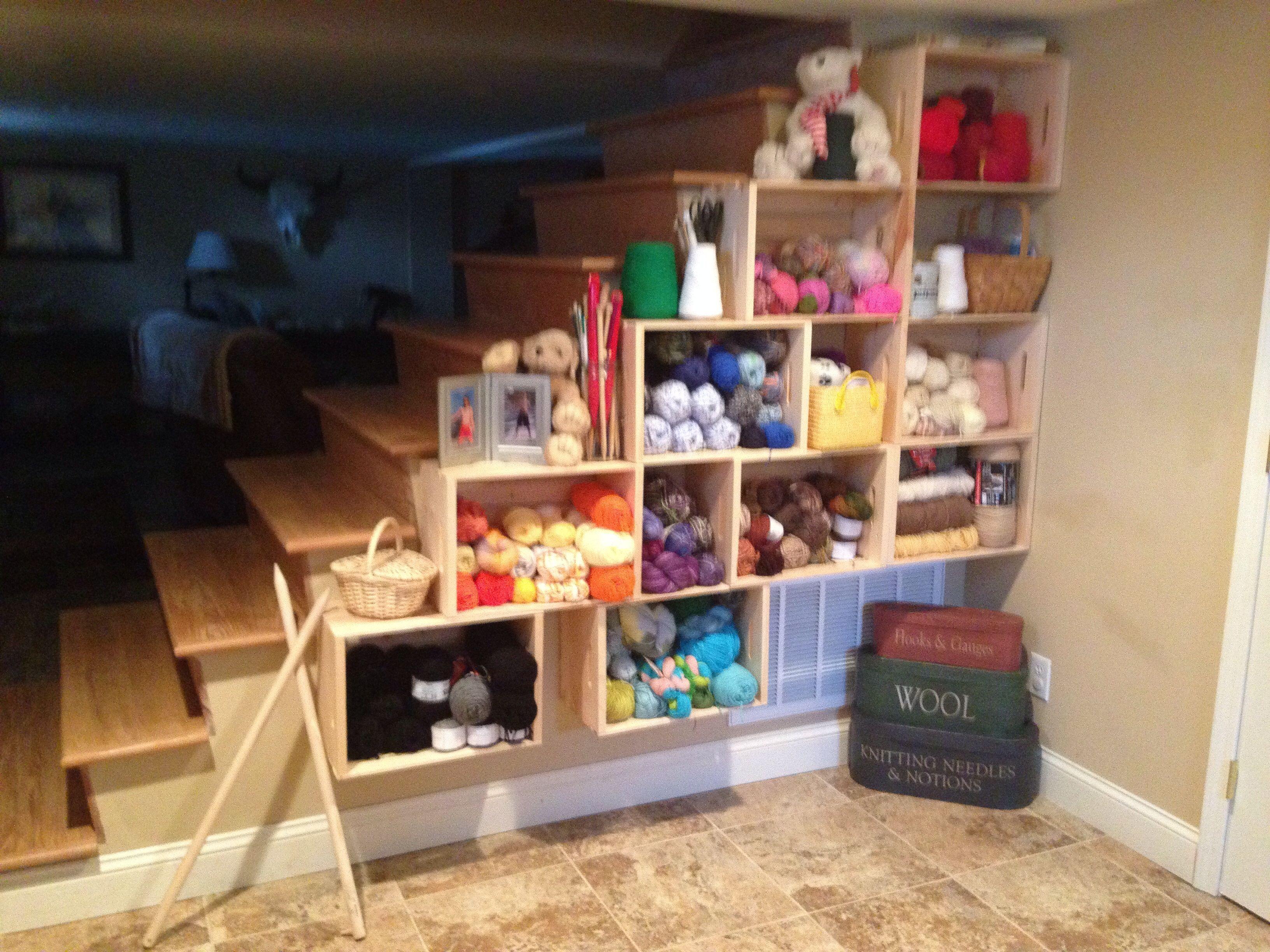 My Yarn Stash Storage Area Built By My Husband. Donu0027t You LOVE It
