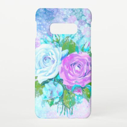 Pastel purple blue pink floral roses samsung galaxy case | Zazzle.com
