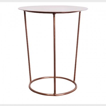 Round Copper Side Table