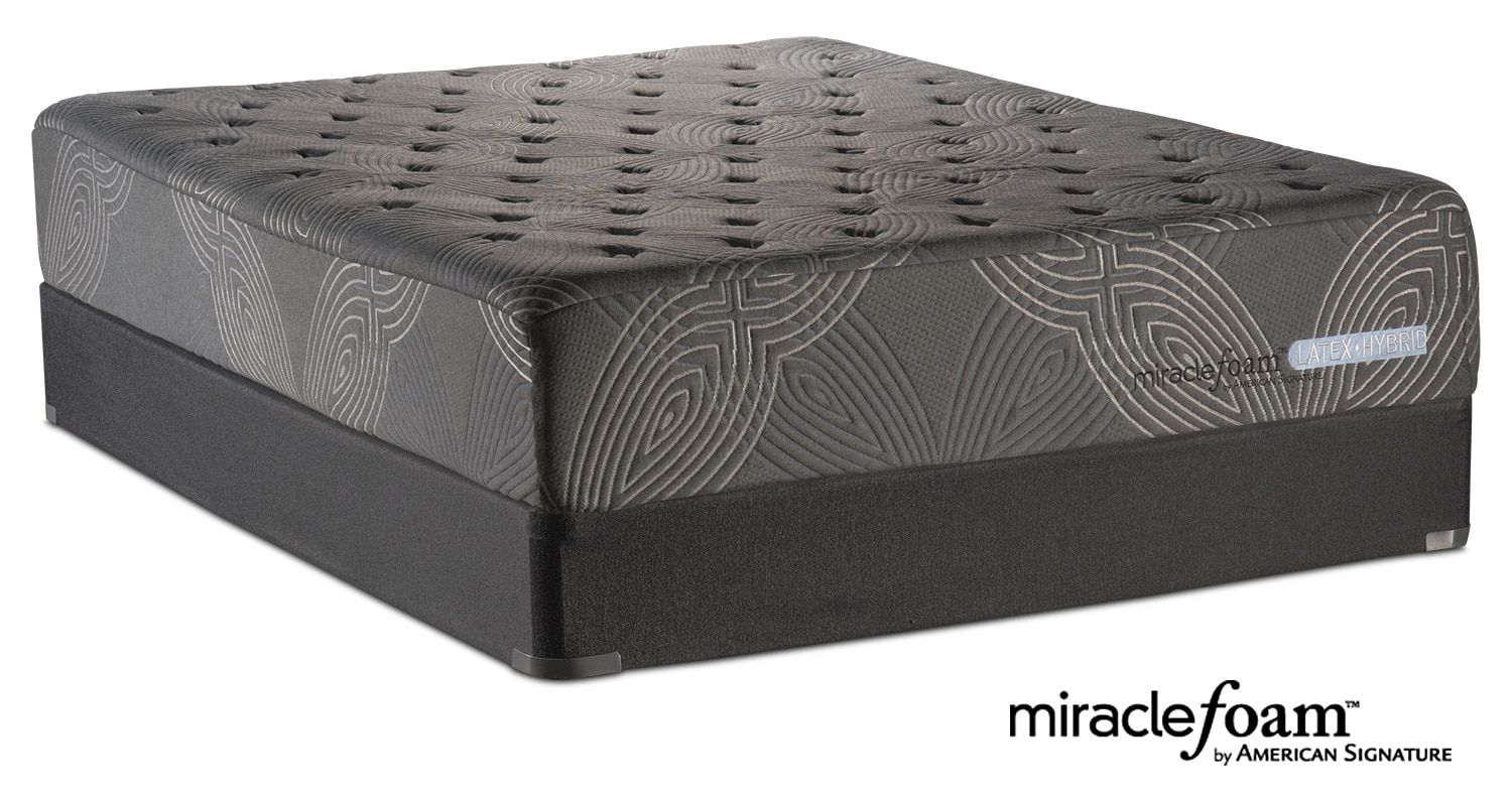 American Signature Furniture Bliss Luxury Firm Queen Mattress And Split Foundation Set