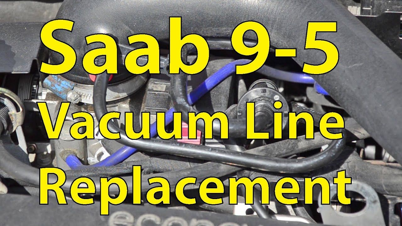 Saab 9 5 Diy Vacuum Line Replacement Silicone Hoses Trionic Seven Youtube Saab Toyota Camry Line Diagram