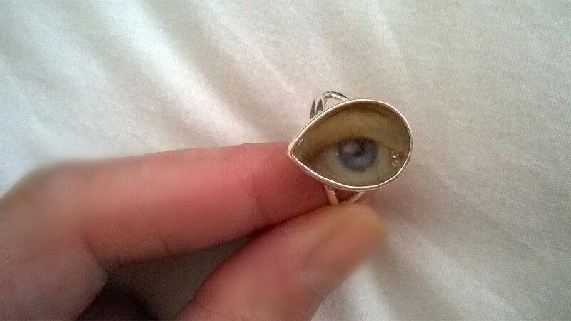 Sterling silver Lovers eye ring with diamond tears ☞ www.etsy.com/shop/caronpowerjewellery