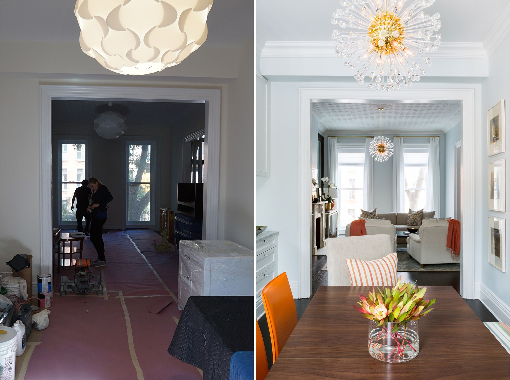 Dining Room Remodel Extraordinary Park Slope Brownstone  Dining Roomchango & Co Before And Design Ideas