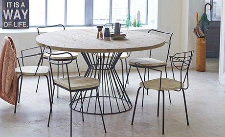 Table metal et pin – Vente de tables de jardin ronde 140 Lina chez ...