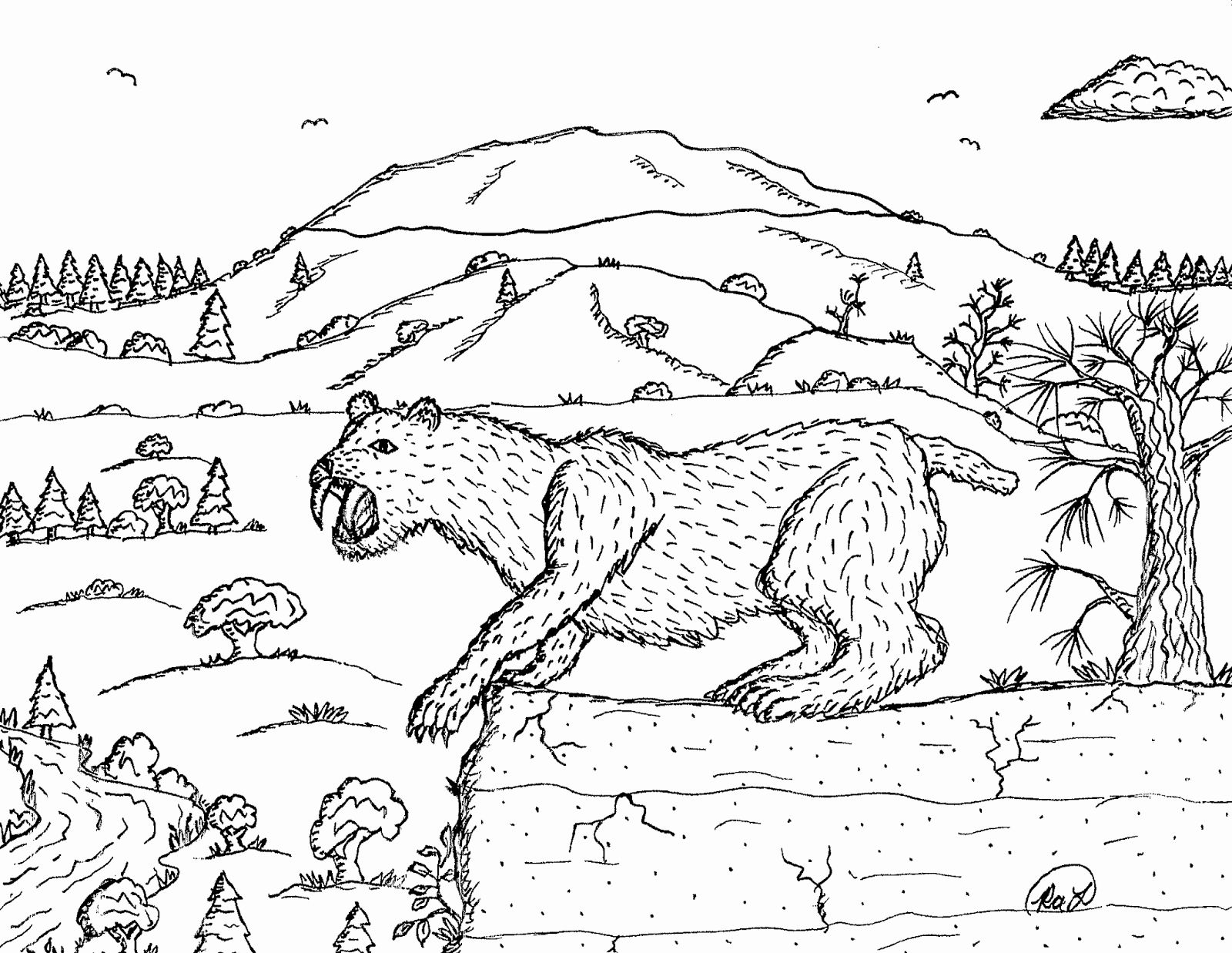 Saber Tooth Tiger Coloring Page Elegant Robin S Great Coloring Pages Smilodon Saber Tooth Cats Coloring Pages Dragon Coloring Page Sabertooth