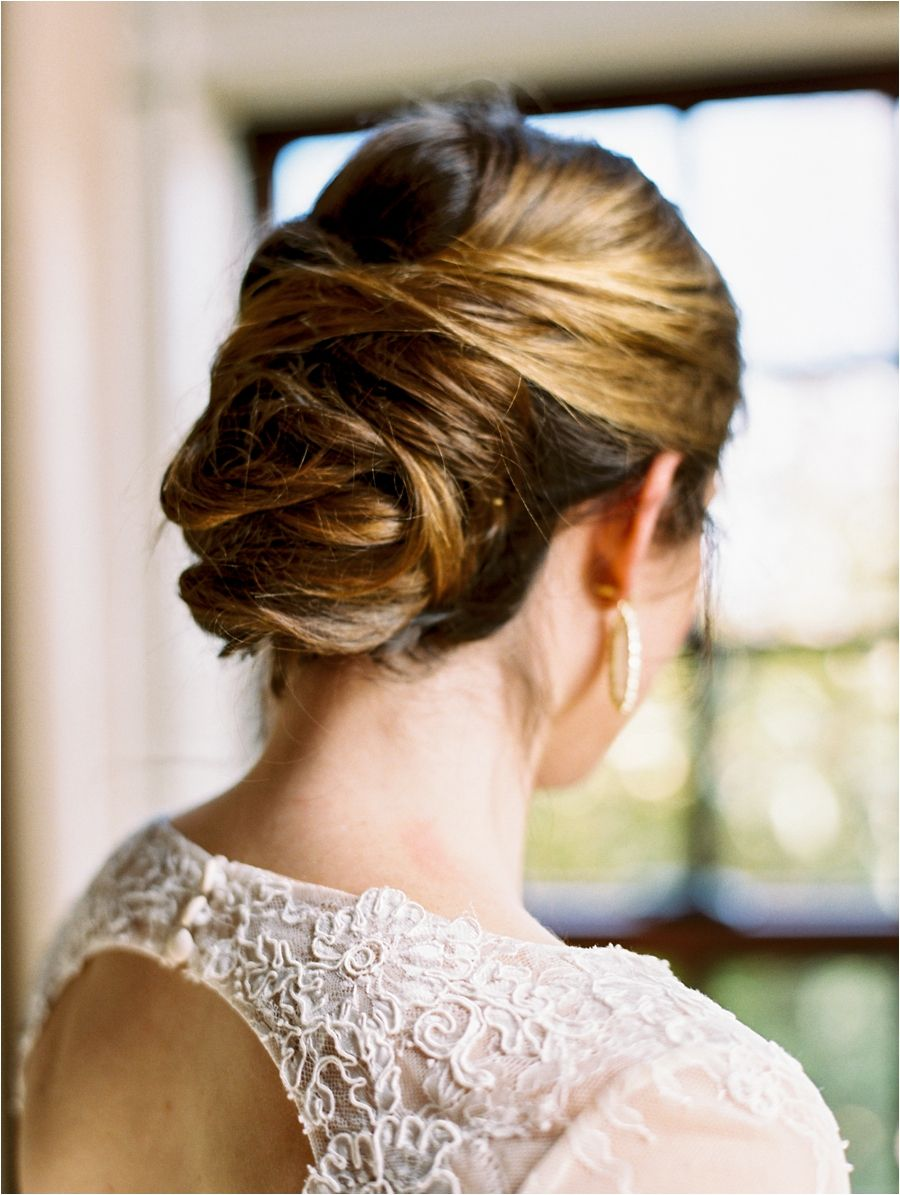 timeless, effortless and elegant updo by anna breeding at