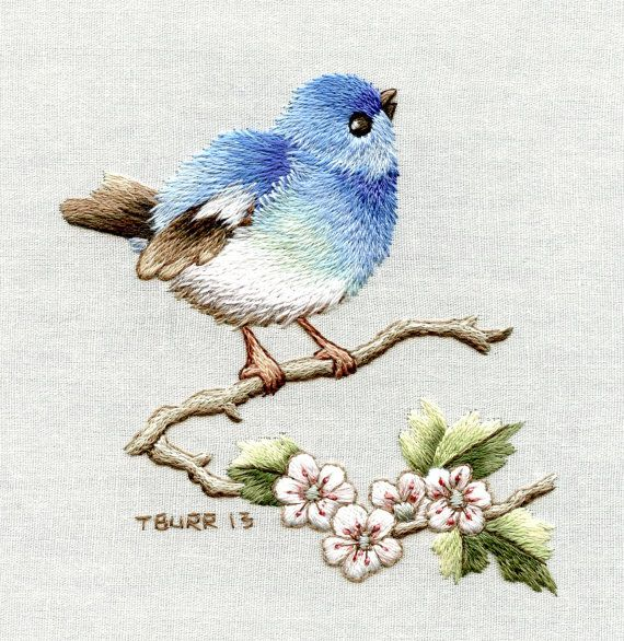 BIRDS You are purchasing a piece of supreme cotton muslin fabric with a screen printed outline for the following projects from the book: MINIATURE NEEDLE PAINTING EMBROIDERY: Vintage portaits, florals & birds. Please choose project from the drop down list - sold out listings will be re-stocked asap. Bird blossoms Bird song Birds on holly Blue tit & wild roses Feathered friends MATERIALS INCLUDE piece of fabric with printed outline YOU WILL NEED You will require a copy of the book for the ...
