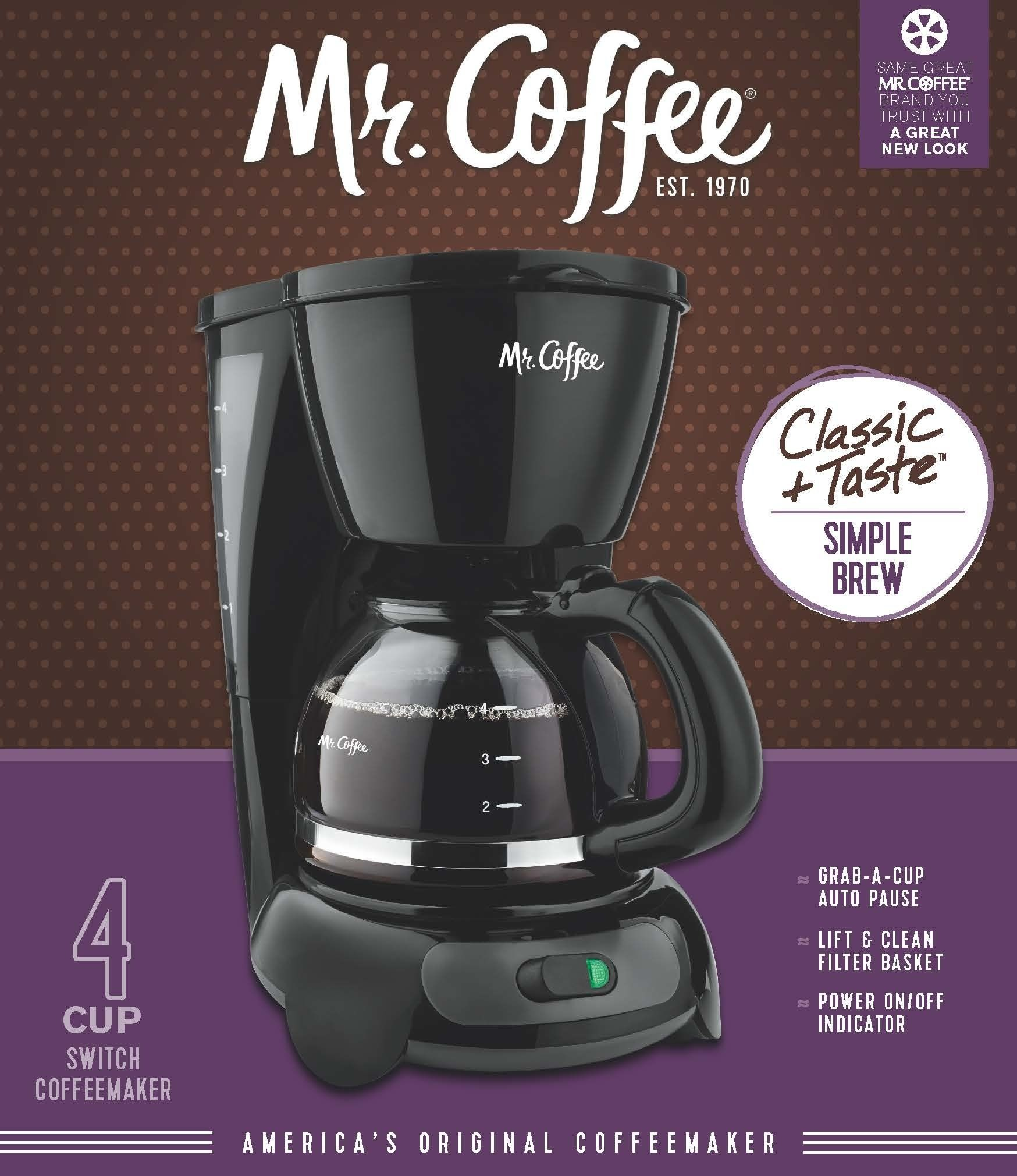 Mr. Coffee 4Cup Switch Coffee Maker Black Be sure to