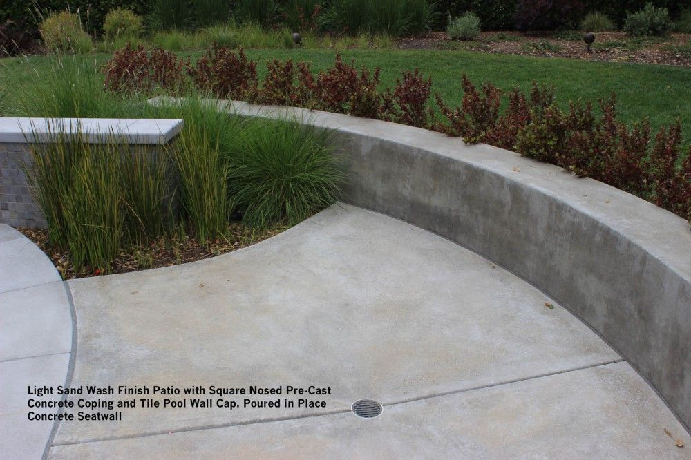 Cast In Place Cocrete Walls Landscape Materials Walls Gallery Wall Seating Smooth Concrete Concrete Retaining Walls