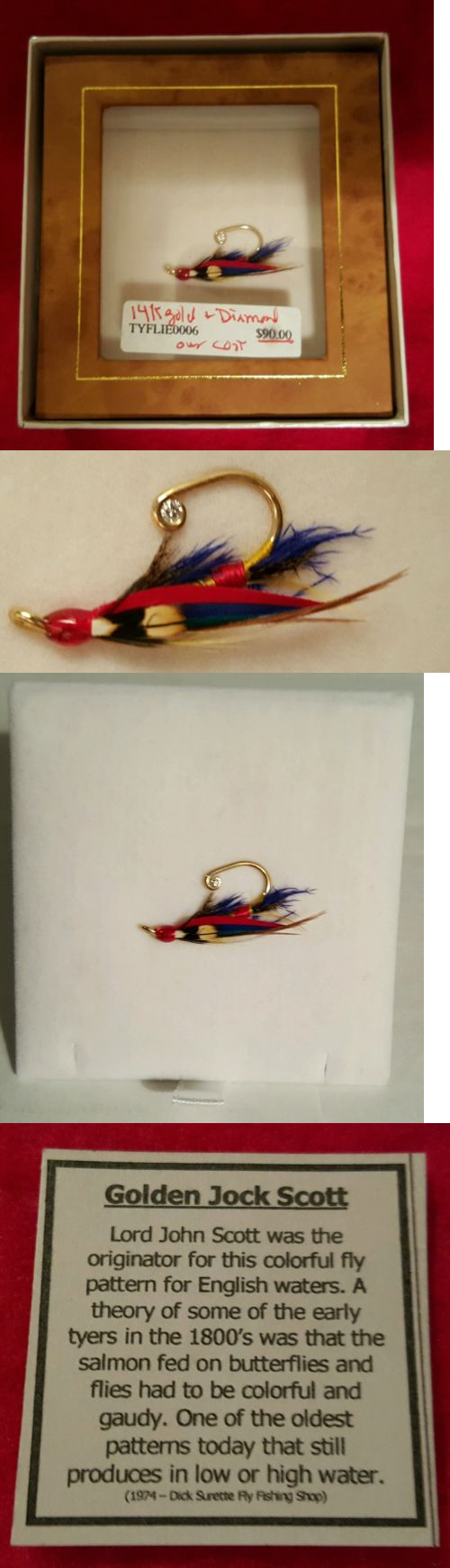 Lapel Pins 60115: Rare Tyflied 14K Gold And Diamond Golden Jock Scott Lapel Pin BUY IT NOW ONLY: $149.99