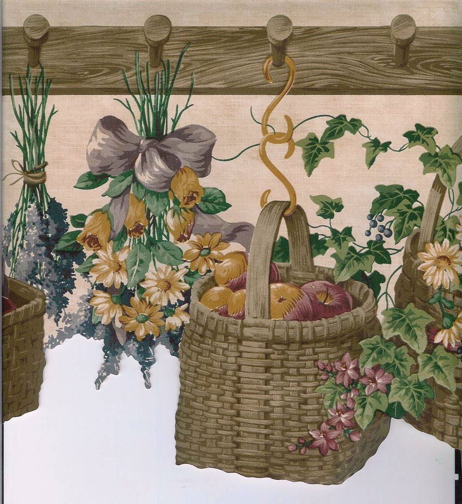 country garden wallpaper borders 1000x1000.jpg Floral