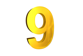 Nine 9 3d Numbers Gold Png Image With Transparent Background Png Free Png Images Transparent Background Gold Clipart Banner Design