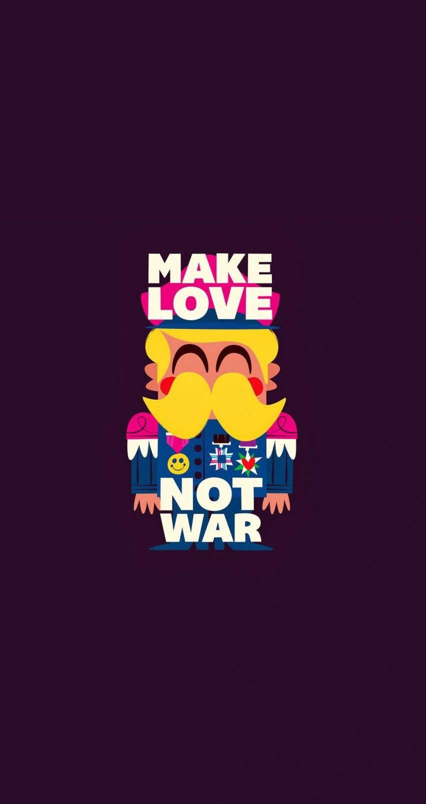 Make love not war. Tap image for more cartoon wallpapers! - @mobile9 Funny cute wallpaper for ...