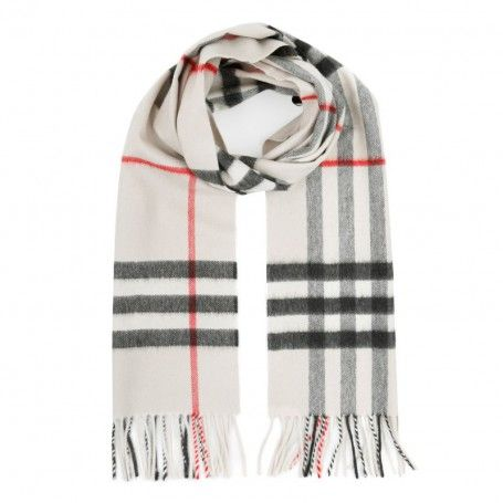 Burberry Schal Giant Check Cashmere Scarf Stone Check In Beige