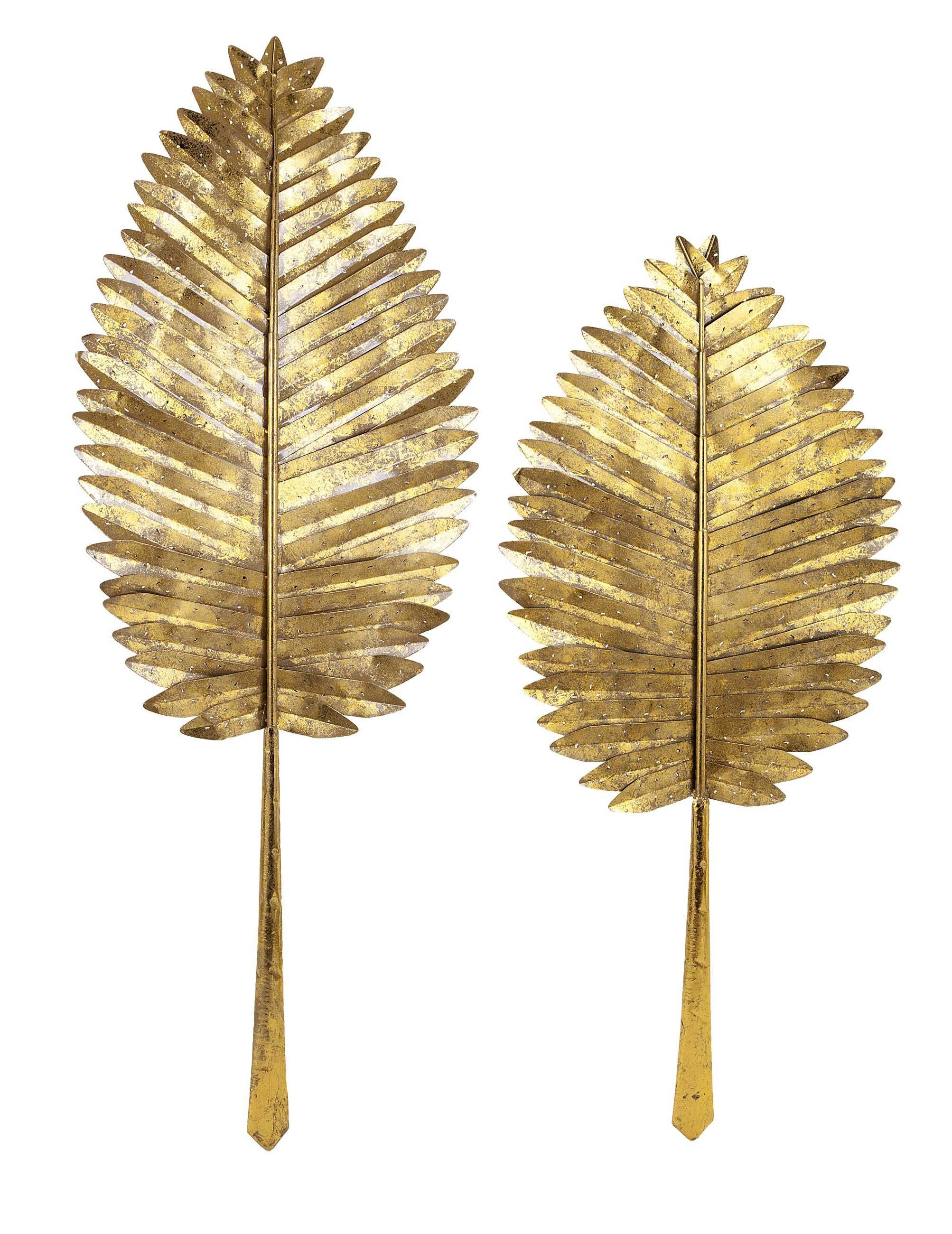 buy Excellent Set Of 2 Milano Gold Leaf Wall Leaves at hhoutlets for ...