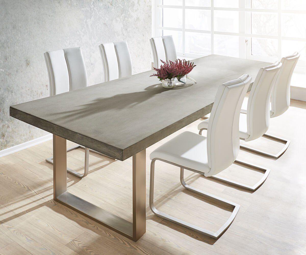 Esszimmertisch Zement Grau Beton Esstisch   Esszimmertisch, Küche tisch,  Schmale esstische