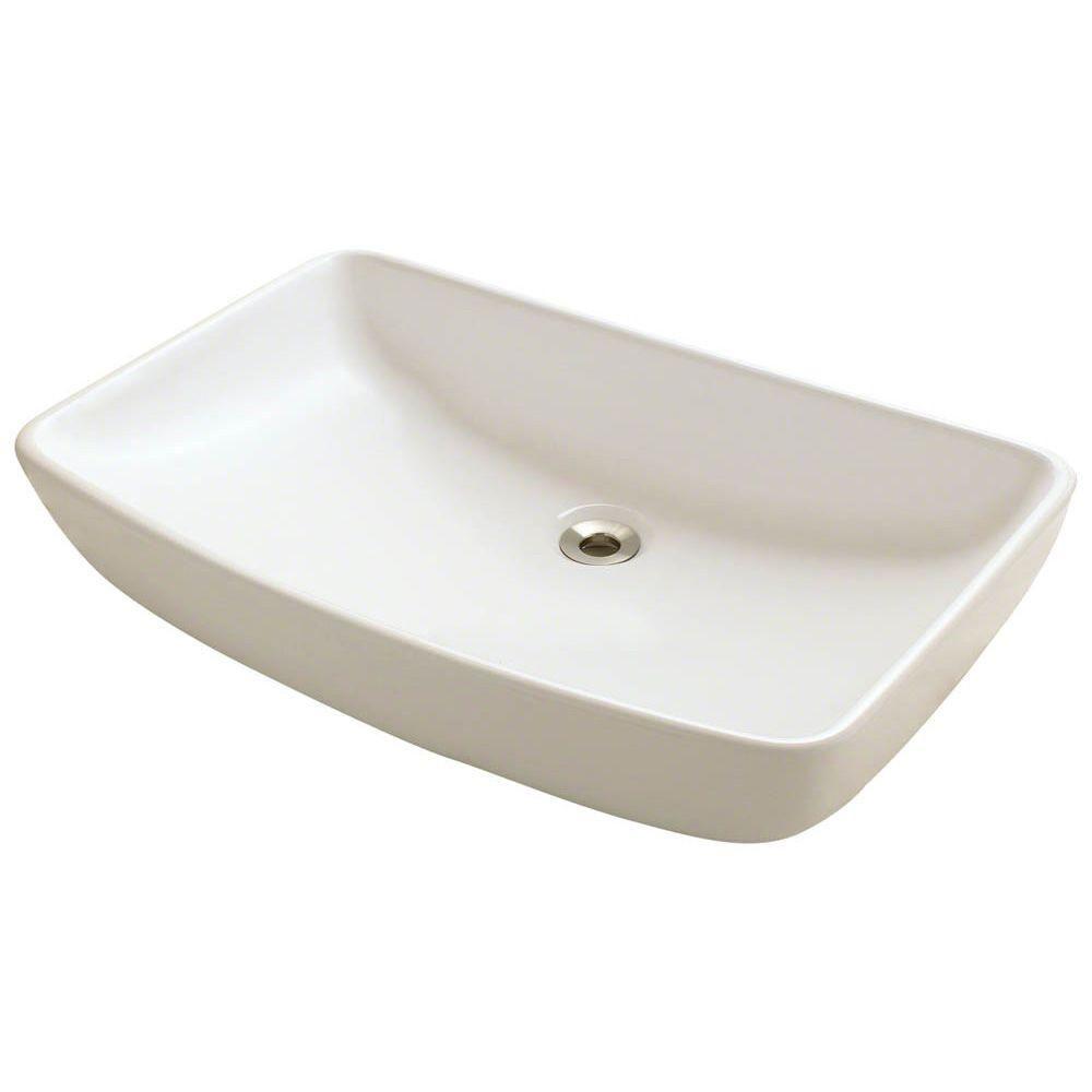 Mr Direct Porcelain Vessel Sink In Bisque V350 B Vessel Sink