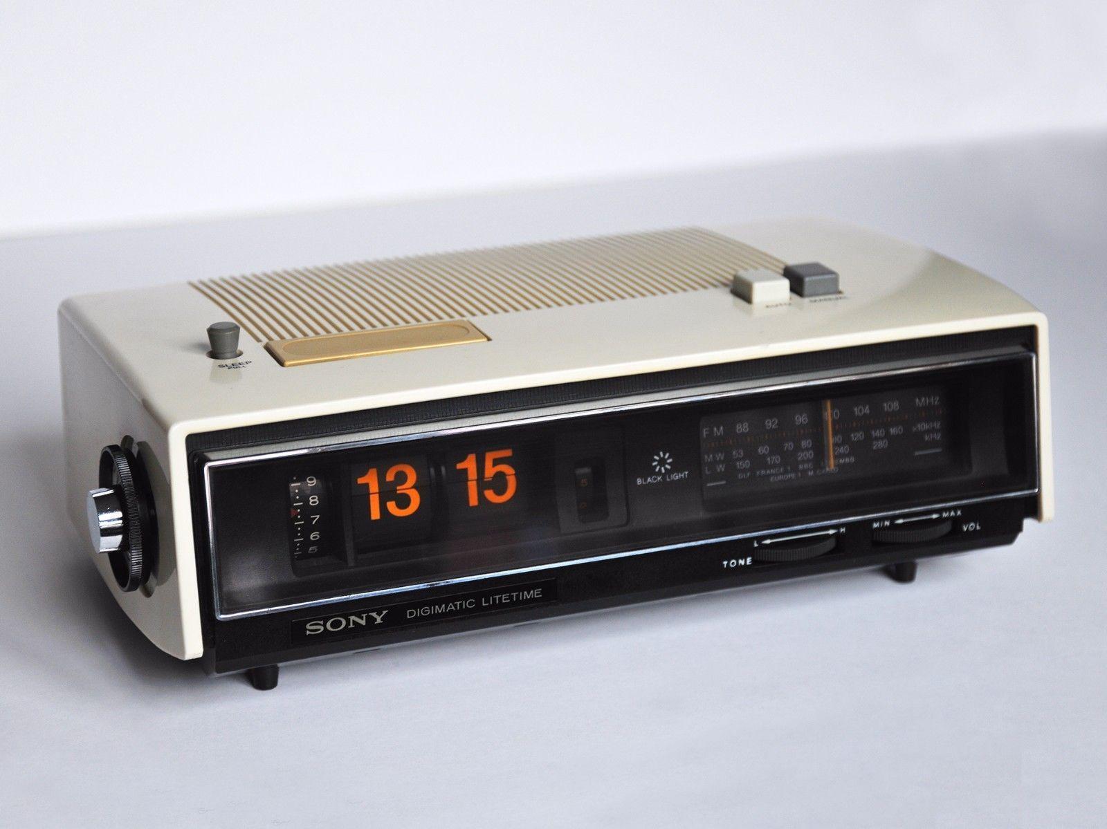 vintage sony clock radio transistor tfm c650lw made in japan 70s wecker reveil ebay radio. Black Bedroom Furniture Sets. Home Design Ideas