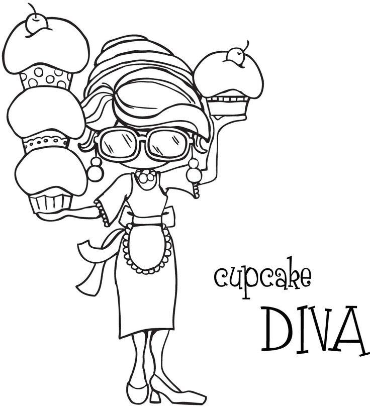 ausmalbilder kostenlos – Cupcake