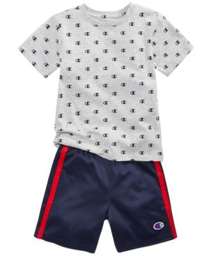 adidas Little Girls' French Terry T Shirt and Shorts Set