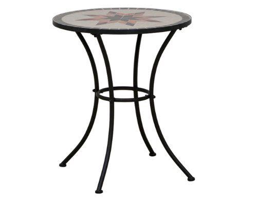 Siena Garden 875342 Tisch Stella Gestell Schwarz Tischplatte In