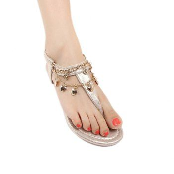 $19.19 Stylish Chain and Flip-Flop Design Sandals For Women