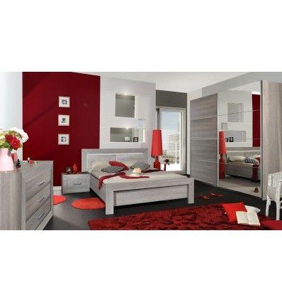 Magnifique chambre à coucher complète pour adultes coloris chêne