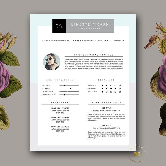 Creative Resume Template   Page Cv Template And Free Cover