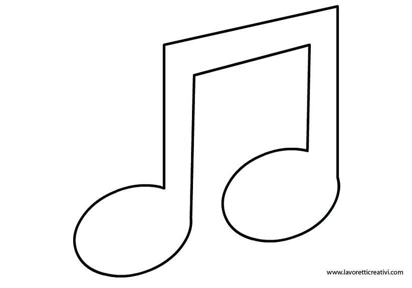 Music Note Coloring Pages Free Printable Music Note Coloring Pages Nota Musical Desenho Moldes De Notas Musicais Molde De Almofada