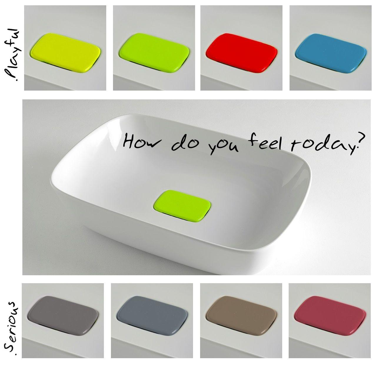 Di che umore sei oggi? Scopri i nuovi lavabi bordo fino con copripiletta in ben 8 diversi colori