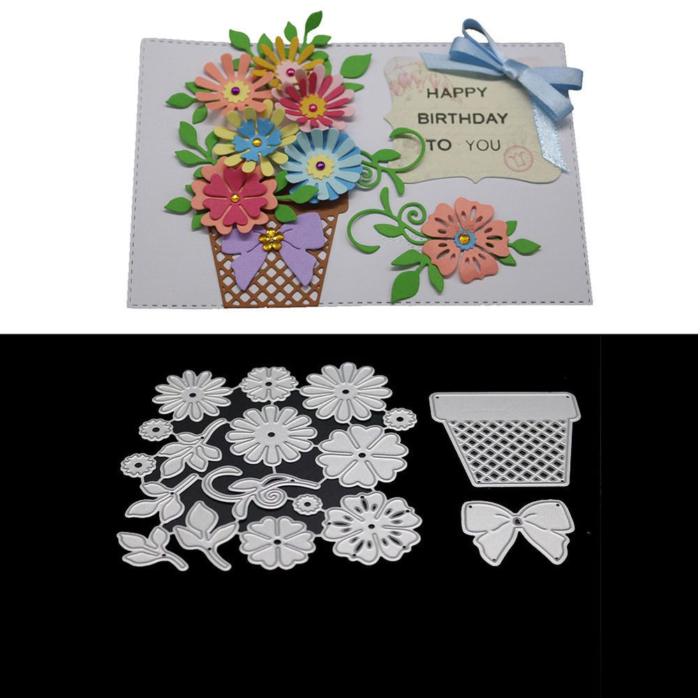 Electronic Components & Supplies Useful Flower And Leaves Pattern Metal Steel Cutting Dies Diy Scrapbook Album Paper Card Crafts Stencil Scrapbooking Stamps Cards Beautiful In Colour